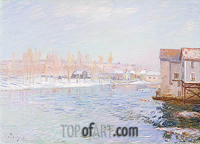 Landscape: Snow Scene, 1891 | Alfred Sisley | Painting Reproduction