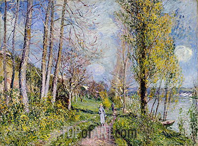 Banks of the Seine, undated | Alfred Sisley | Gemälde Reproduktion