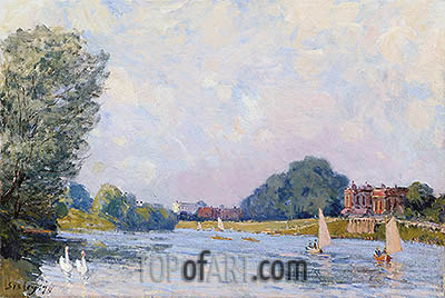 Hampton Court, 1874 | Alfred Sisley | Gemälde Reproduktion