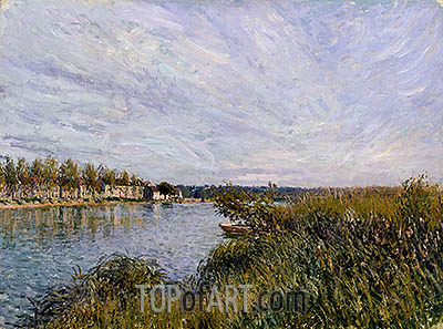 View of St-Mammès, 1881 | Alfred Sisley | Gemälde Reproduktion