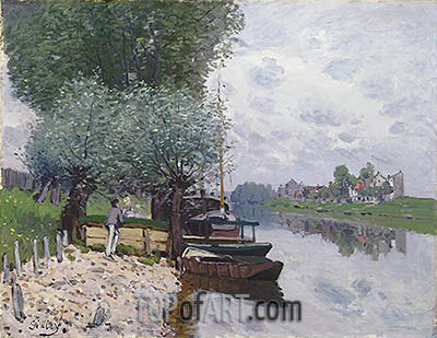 The Seine at Bougival, 1872 | Alfred Sisley | Gemälde Reproduktion