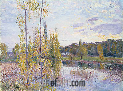 The Lake at Chevreuil, 1888   Alfred Sisley   Painting Reproduction