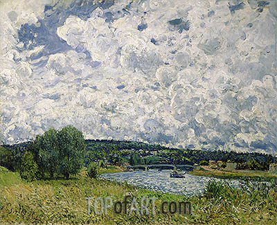 The Seine at Suresnes, 1877 | Alfred Sisley | Painting Reproduction
