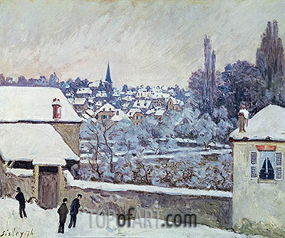 Winter in Louveciennes, 1876 | Alfred Sisley | Gemälde Reproduktion