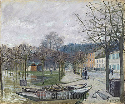 The Flood at Port-Marly, 1876 | Alfred Sisley | Gemälde Reproduktion