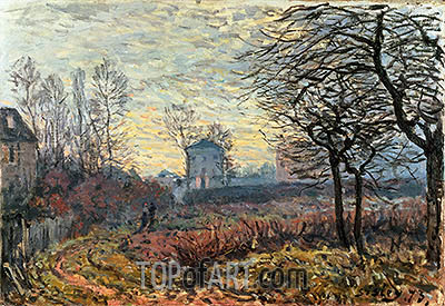 Landscape near Louveciennes, 1873 | Alfred Sisley | Painting Reproduction