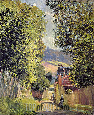 A Road in Louveciennes, 1883 | Alfred Sisley | Gemälde Reproduktion