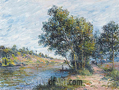 Path to Veneux, the Slopes of the Celle, 1881 | Alfred Sisley | Painting Reproduction