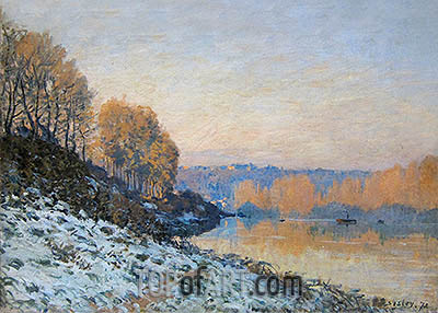 Port Marly, Hoarfrost, 1872   Alfred Sisley   Painting Reproduction