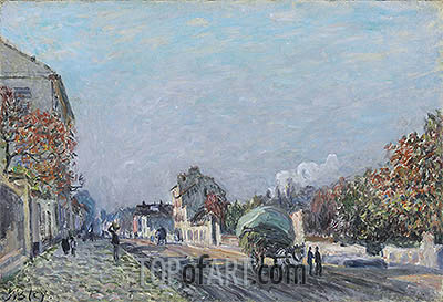 A Street in Marly, undated | Alfred Sisley | Painting Reproduction