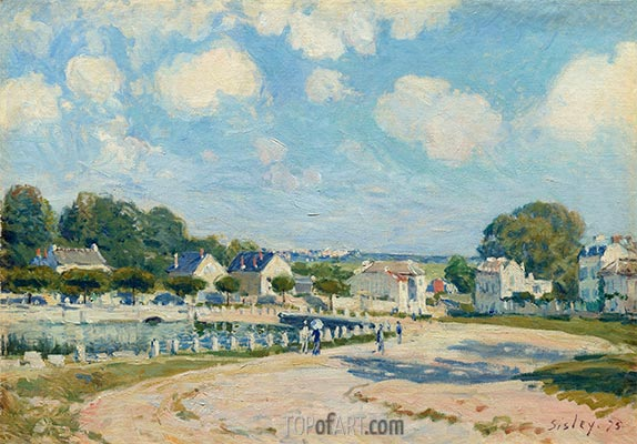 Watering Place at Marly, 1875 | Alfred Sisley | Painting Reproduction