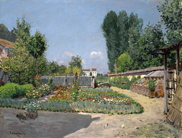 The Kitchen Garden, 1872 | Alfred Sisley | Painting Reproduction