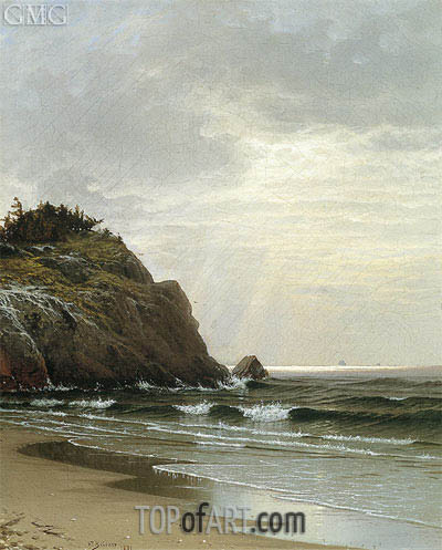 Cloudy Day, 1871 | Alfred Thompson Bricher | Gemälde Reproduktion