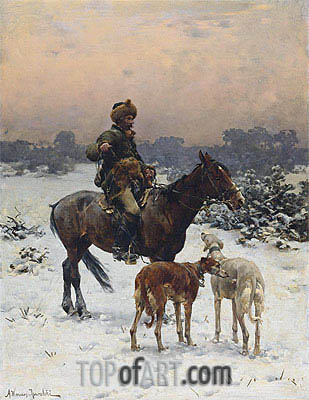 A Windy Day, Undated | Alfred von Wierusz-Kowalski | Painting Reproduction