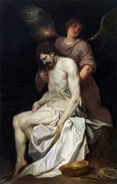 The Dead Christ held by an Angel, c.1646/52 by Alonso Cano | Painting Reproduction