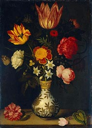 Still Life with Flowers in a Wan-Li Vase, 1619 by Ambrosius Bosschaert | Painting Reproduction