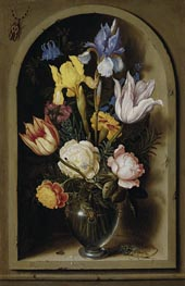 Bouquet of Flowers in a Niche | Ambrosius Bosschaert | Gemälde Reproduktion