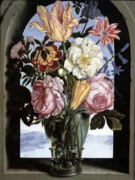 Still Life of Flowers in a Drinking Glass, undated by Ambrosius Bosschaert | Painting Reproduction