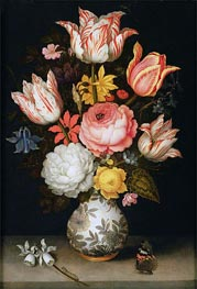 Still Life with Flowers, undated by Ambrosius Bosschaert | Painting Reproduction
