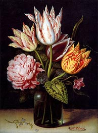 A Still Life with a Bouquet of Tulips, undated by Ambrosius Bosschaert | Painting Reproduction