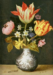 Still Life with a Wan'li Vase of Flowers | Ambrosius Bosschaert | Painting Reproduction