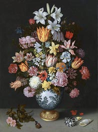 Still Life of Flowers in a Wan-Li Vase, c.1609/10 by Ambrosius Bosschaert | Painting Reproduction