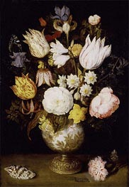 A Vase of Flowers | Ambrosius Bosschaert | Painting Reproduction