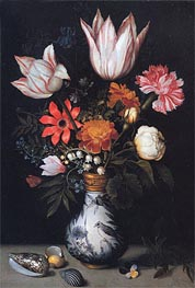 Flowers in a Vase | Ambrosius Bosschaert | Painting Reproduction