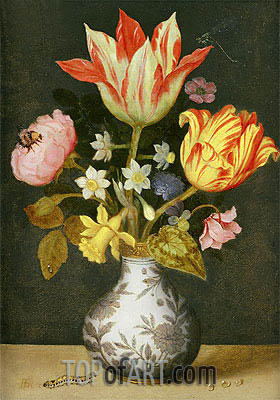 Still Life with a Wan'li Vase of Flowers, Undated | Ambrosius Bosschaert | Gemälde Reproduktion