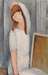 Portrait of Jeane Hebuterne, Left Arm behind Head | Modigliani | Painting Reproduction