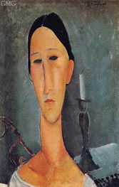 Portrait of Anna Zborowska, 1919 by Modigliani | Painting Reproduction