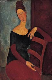 Portrait of the Artist's Wife, Jeanne Hebuterne | Modigliani | Painting Reproduction
