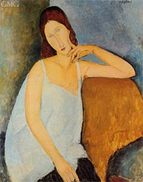 Portrait of Jeanne Hebuterne, Sitting | Modigliani | Painting Reproduction