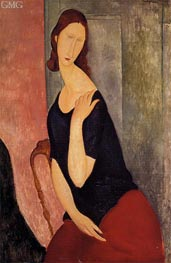 Portrait of Jeanne Hebuterne | Modigliani | Painting Reproduction