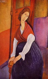 Jeanne Hebuterne, 1919 by Modigliani | Painting Reproduction