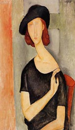 Jeanne Hebuterne in a Hat | Modigliani | Painting Reproduction