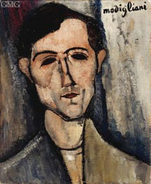A Man, 1916 by Modigliani | Painting Reproduction