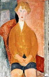 Boy in Short Pants, c.1918 by Modigliani | Painting Reproduction
