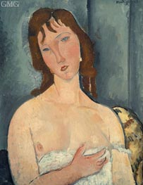 Portrait of a Young Woman | Modigliani | Painting Reproduction