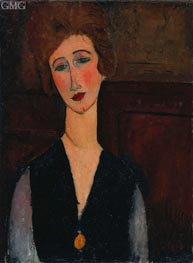 Portrait of a Woman, c.1917/18 by Modigliani | Painting Reproduction