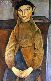 Young Gypsy, 1909 by Modigliani | Painting Reproduction