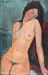 Female Nude, c.1916 by Modigliani | Painting Reproduction