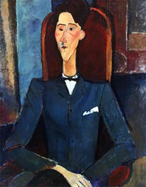 Portrait of Jean Cocteau, 1916 by Modigliani | Painting Reproduction