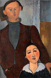 Jacques and Berthe Lipchitz, 1916 by Modigliani | Painting Reproduction