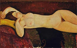 Reclining Nude, c.1919 by Modigliani | Painting Reproduction
