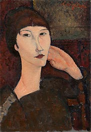 Adrienne (Woman with Bangs) | Modigliani | Painting Reproduction