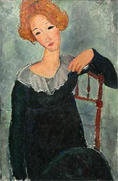 Woman with Red Hair | Modigliani | Painting Reproduction