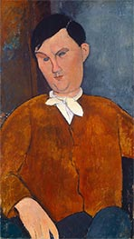 Monsieur Deleu, 1916 by Modigliani | Painting Reproduction