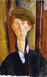 Young Man with a Cap | Modigliani | Painting Reproduction