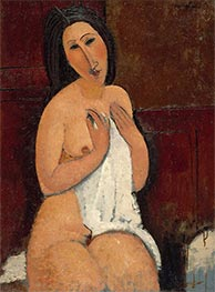 Seated Nude with a Shirt | Modigliani | Painting Reproduction